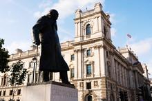Statue Of Winston Churchill, British Prime Minister, London ( UK )