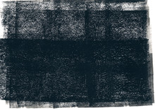 Black Rolled Ink Texture On White Background