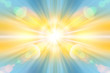 Abstract blur background pattern. Light blue abstract wallpaper background. Horizontal lights. Flash - rays of light in the space of the sky. Radiance of light. Energy, aura, yoga, meditation, bokeh.