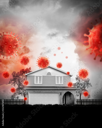 Social Distancing at Home with Coronavirus Pandemic Canvas-taulu
