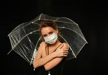 Girl In A Medical Bandage Unde...