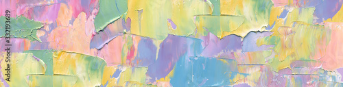 Obraz Abstract painting background in pastel positive color as wallpaper, pattern, art print, textured fonts, shapes etc. Natural texture of oil paint. High quality details. - fototapety do salonu