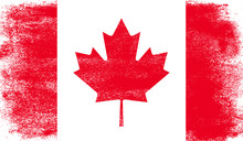 Canada Flag With Grunge Texture