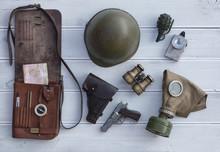 Leather Map-case, Vintage Mili...