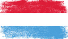 Luxembourg Flag With Grunge Te...