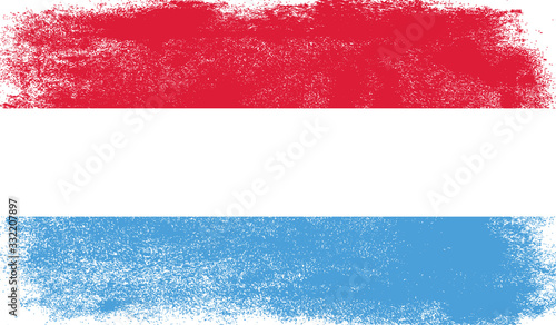 Tablou Canvas Luxembourg flag with grunge texture