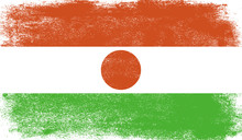 Niger Flag With Grunge Texture