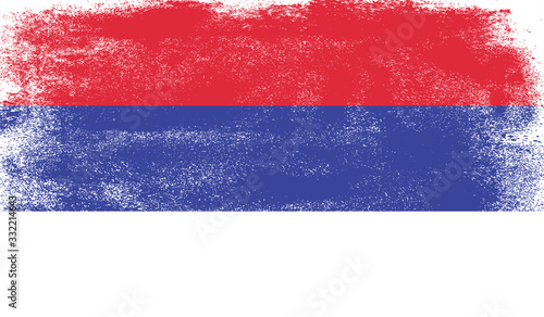 Obraz Republika Srpska flag with grunge texture - fototapety do salonu