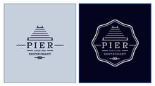 Pier Restaurant Logo Template