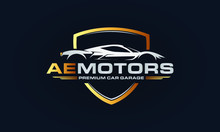 Car Garage Premium Concept Logo Design