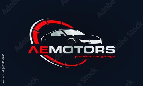 Fotografie, Obraz Car Garage Premium Concept Logo Design
