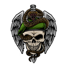 Skull Army With Snake Vector I...