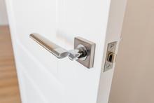 Stylish Doorknob And Door In A...