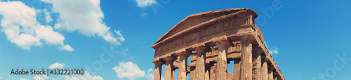 Greek temple in Agrigento's Valley of the Temples, Sicily, Italy Wallpaper Mural