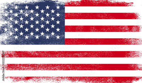 United States of America flag with grunge texture Canvas Print