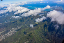 The View On The Oahu Island From The Air
