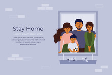 Stay Home Concept. House Facad...
