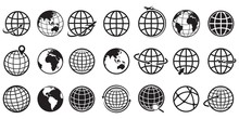 Earth Globe Icon Set, Vector I...