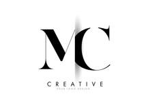 MC M C Letter Logo With Creati...