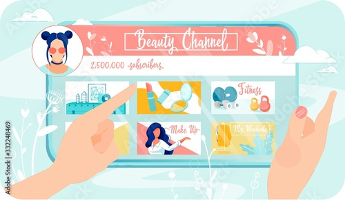 Beauty Blog with Two and Half Million Subscriber Fototapeta
