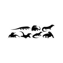 Vector Illustration Of Lizard ...