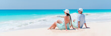 Young Couple On White Beach Du...