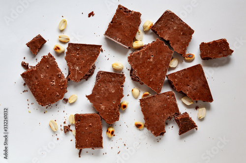 Chocolate on a white background, isolated Canvas Print