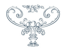 Floral Decorative Vector Vase ...