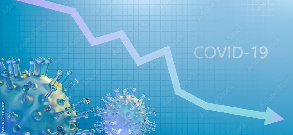 Fototapeta economic crisis due to the coronavirus pandemic, covid 19