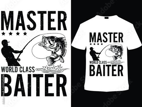 Master world class baiter. Fishing Vector T Shirt Design Template Canvas Print
