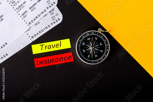 Travel Insurance - for trip cancellation, medical expenses, and travel accident Canvas Print