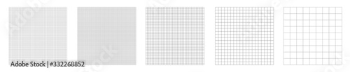 Set of grid pattern background Wallpaper Mural