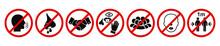 Set Of Prohibiting Icons: No C...