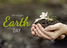 Text Save Our Planet. Earth Da...