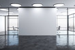 canvas print picture - Blank wall in modern office interior