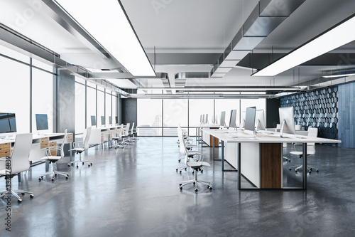 Fototapeta Luxury coworking office room obraz na płótnie