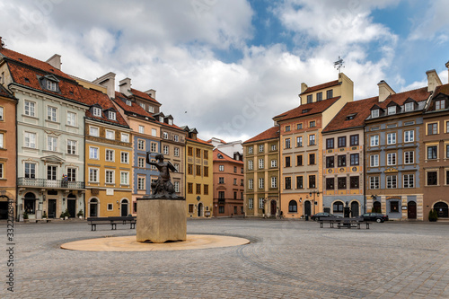 Empty Old Town Square in Warsaw