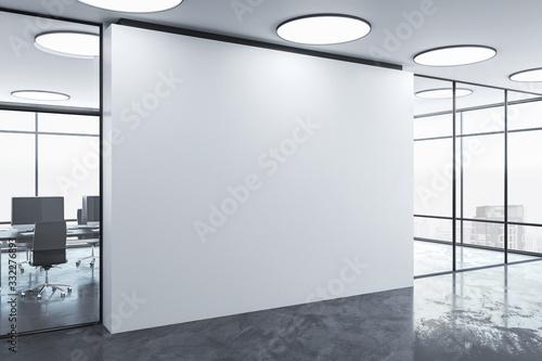 Obraz Blank wall in office interior. - fototapety do salonu