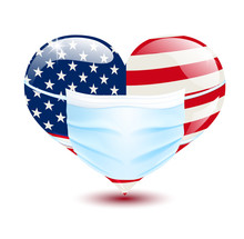 Heart In The US Flag Colors Wi...