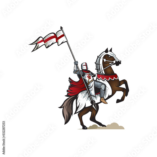 Knight Templar version 2 vector Illustration Wallpaper Mural