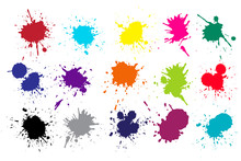 Grunge Splatters Abstract Ink ...