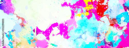 Obraz カラフルにペイントされた抽象的な背景 - fototapety do salonu