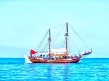 Sailing Yachts In The Sea. Sea...