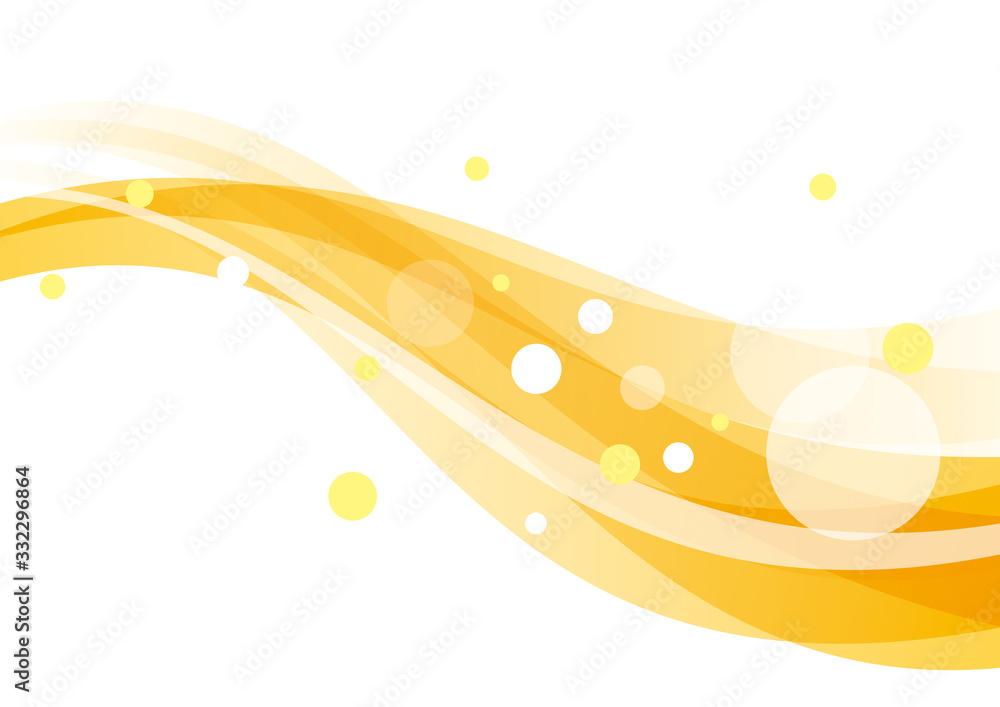 曲線 円 抽象 オレンジ