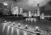 Public Park And Skyline Of Dow...