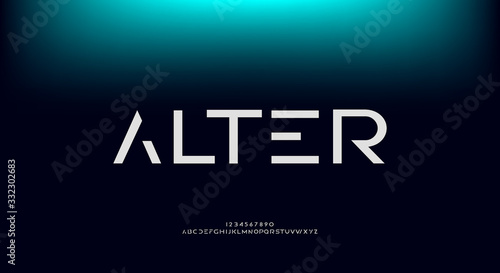 Fotomural Alter, an abstract technology futuristic sci fi alphabet font