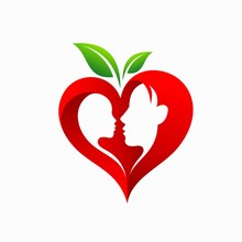 Mother And Baby, Heart Shaped, Fruit Concept