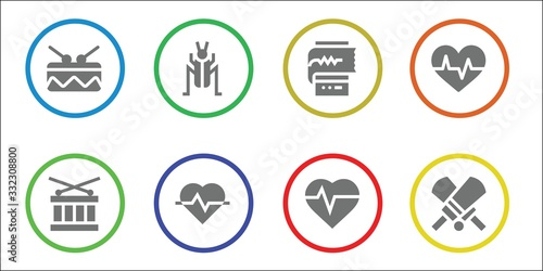 Modern Simple Set of beat Vector filled Icons Wallpaper Mural