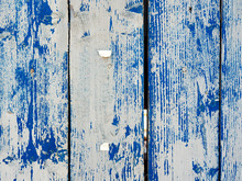 Shabby Wooden Planks With Crac...