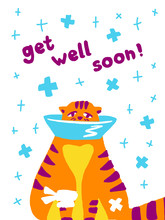 Greeting Card Get Well Soon Wi...